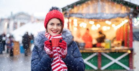 Selling products in stalls on holiday fairs in Slovenia