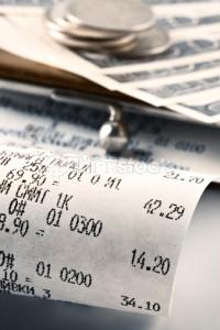 Globe za brisanje računov pri gotovinskem poslovanju