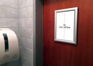 Oglaševanje toaletni prostori