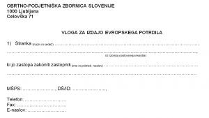 EU-potrdilo obvezno za vse obrtnike, ki delajo izven Slovenije