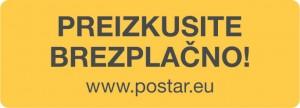 2016 Posta Postar STICKER Preizkus 1