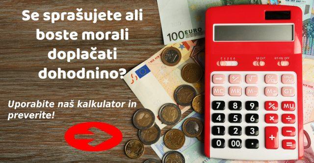 dohodnina kalkulator
